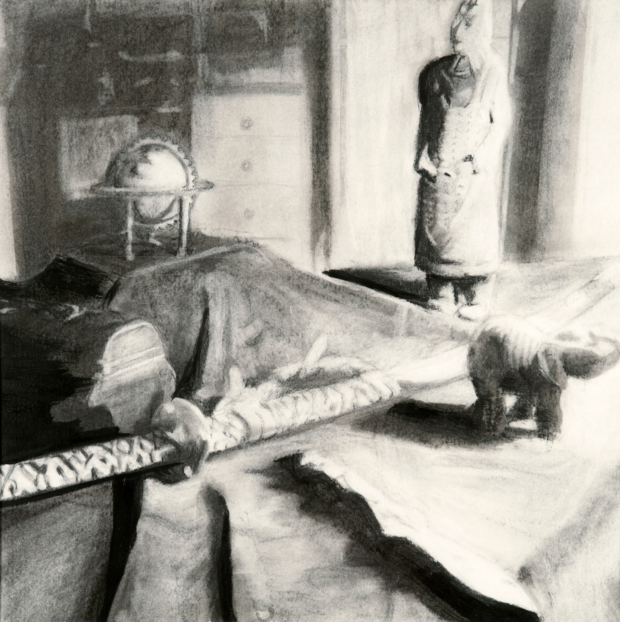 oriental_still_life_charcoal_graphite_ink